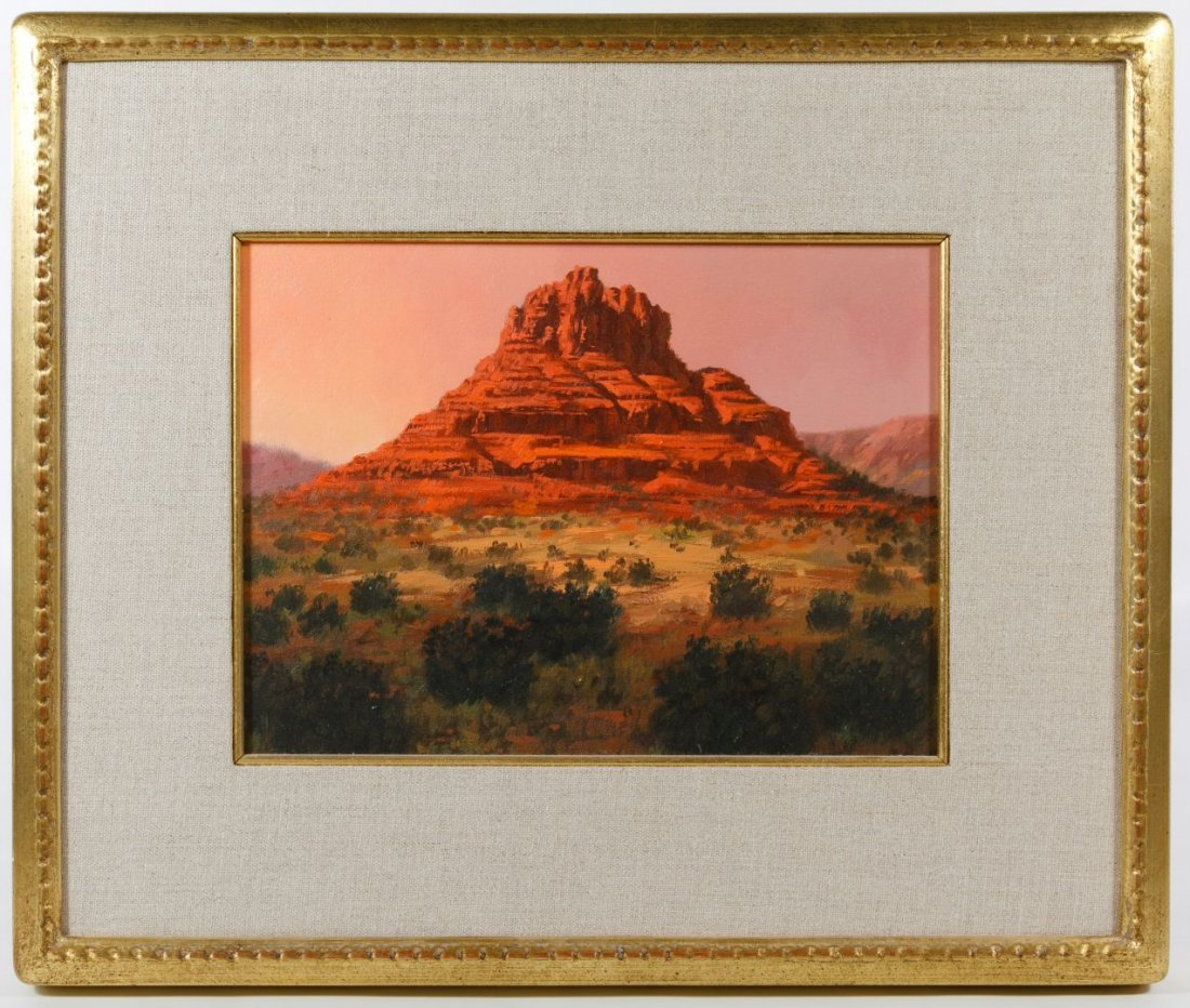 Robb Woods (American, 20th Century) 'Bell Rock' Oil on