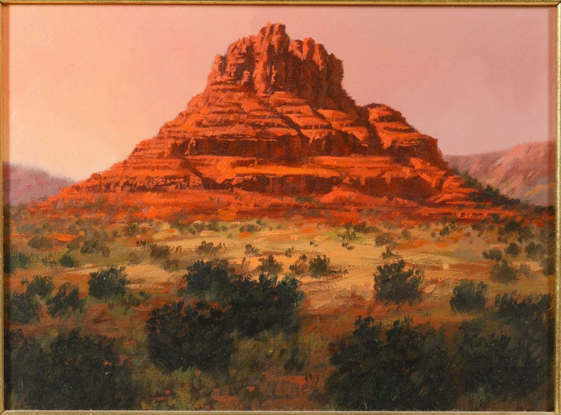 Robb Woods (American, 20th Century) 'Bell Rock' Oil on - 2