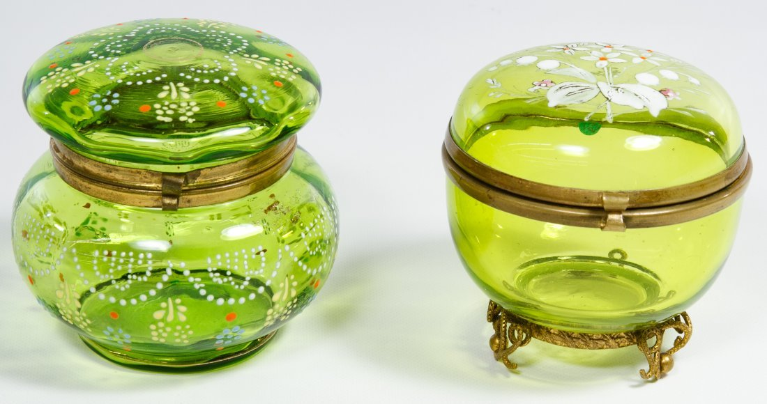 Moser Green Dresser Boxes