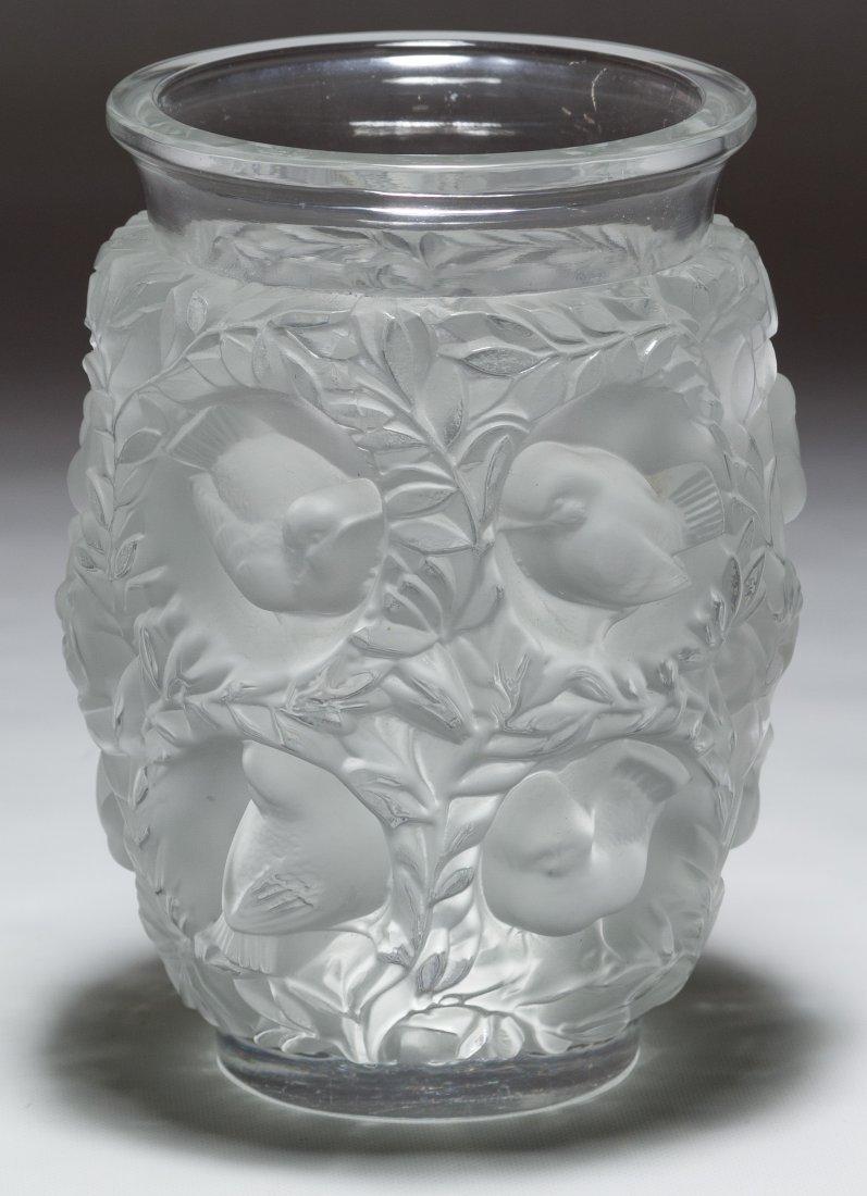 Lalique Crystal 'Bagatelle' Sparrows Vase