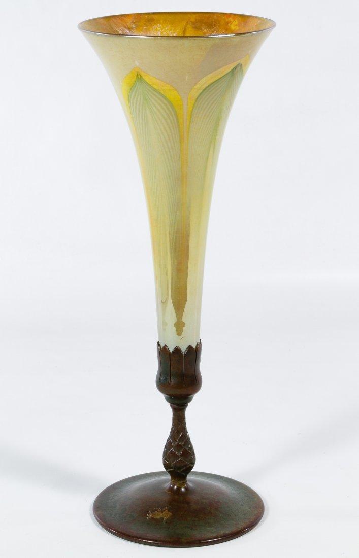 Louis Comfort Tiffany Favrile Trumpet Vase
