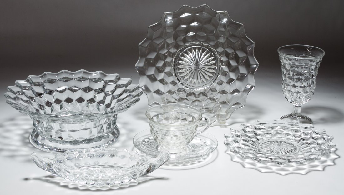 Fostoria 'American' Glass Punch and Dessert Service