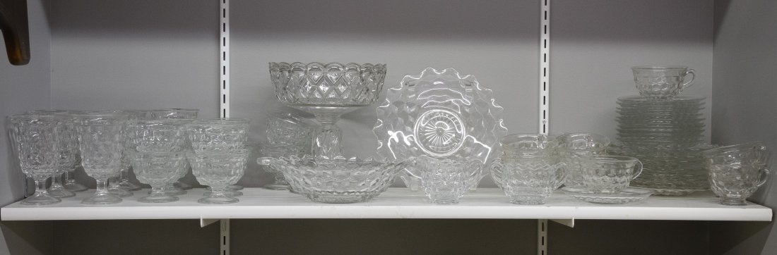 Fostoria 'American' Glass Punch and Dessert Service - 2