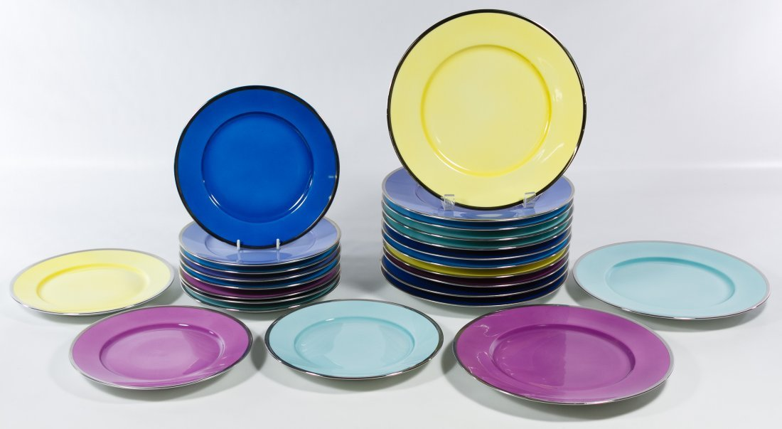 Jean Louis Coquet Limoges 'Brunch' Plate Assortment