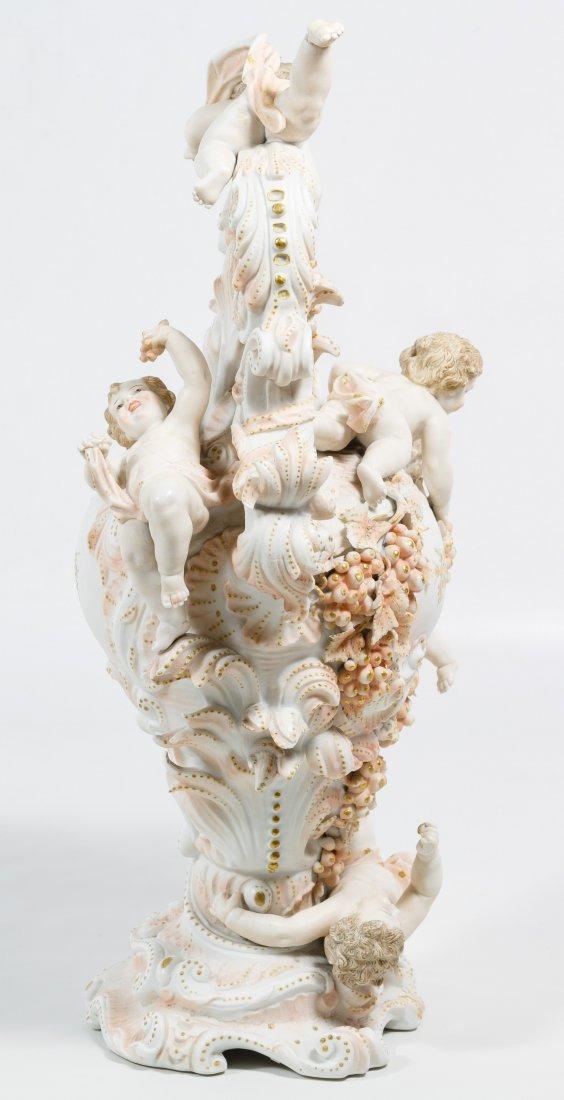Karl Voldstedt Porcelain Ewer with Putti Decoration - 4