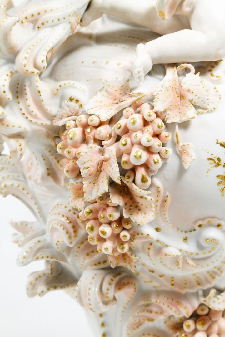 Karl Voldstedt Porcelain Ewer with Putti Decoration - 6