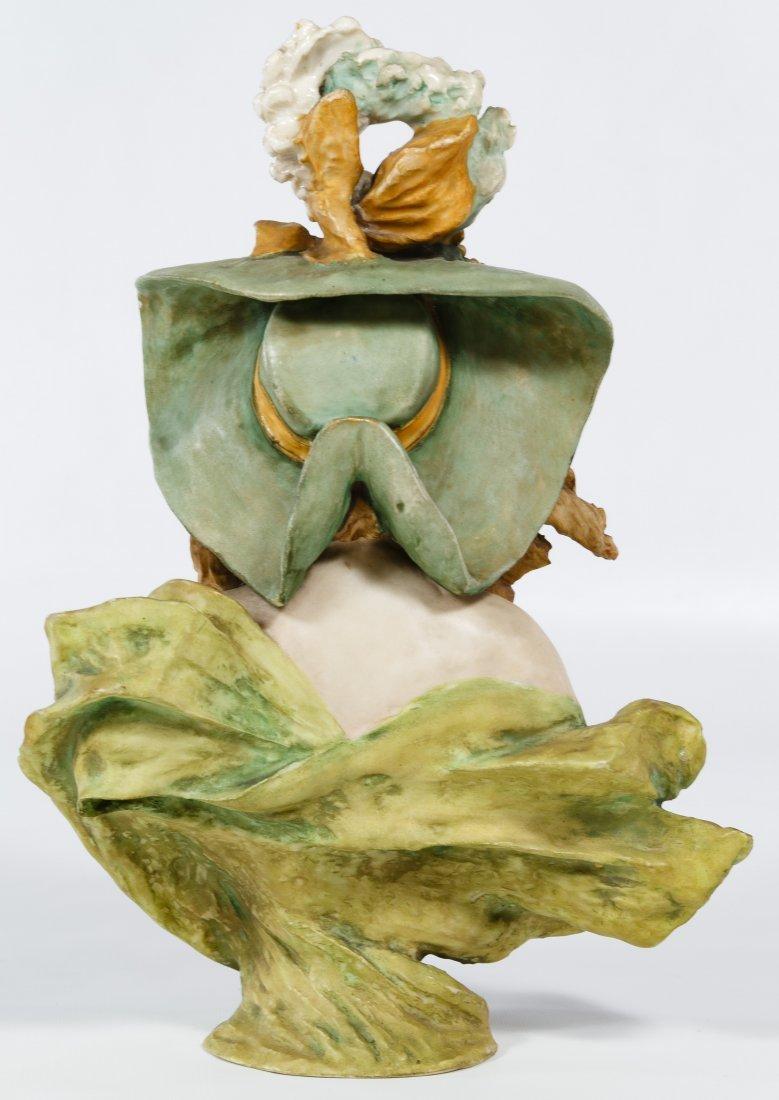 Turn Teplitz Amphora Art Nouveau Bust - 2