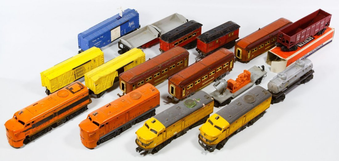 Lionel and American Flyer Toy Train Car Assortment