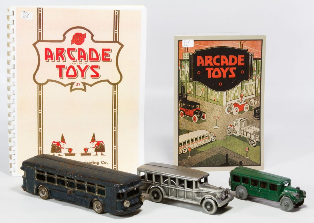 Cast Iron Toy Bus Assortment
