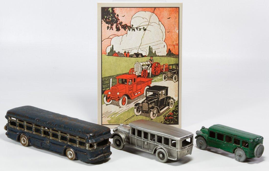 Cast Iron Toy Bus Assortment - 2