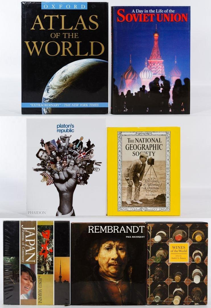 Fine Art, Photography and Atlas Book Assortment