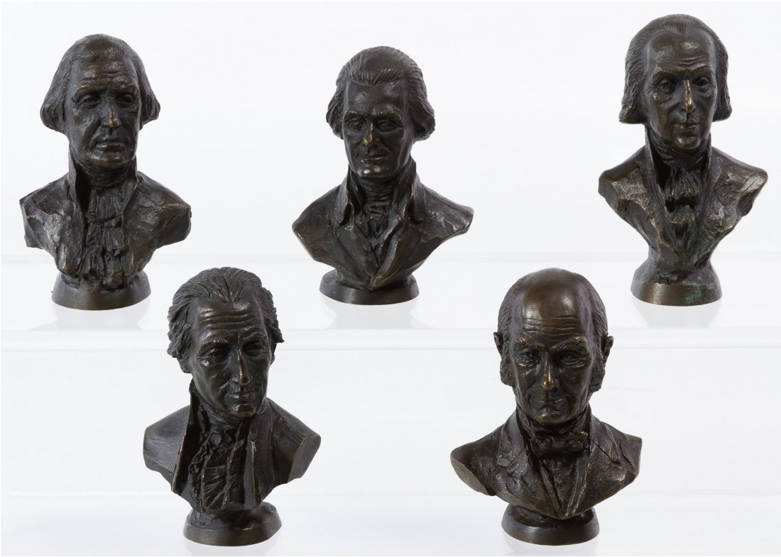 Franklin Mint Bronze Presidential Bust Assortment