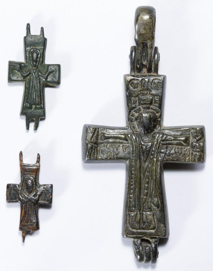 Byzantine Bronze Crosses