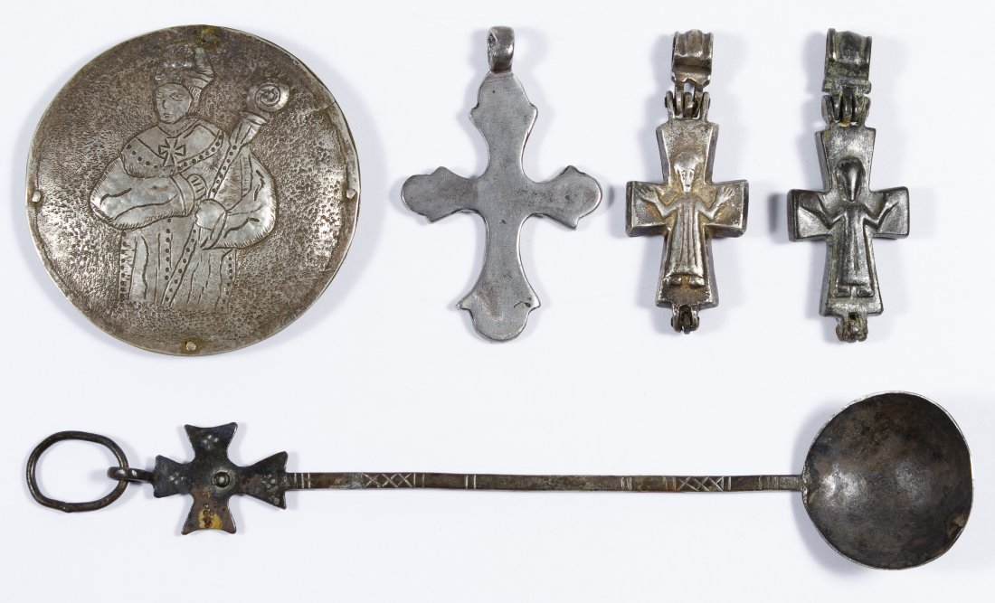 Byzantine Silver and Bronze Cross Assortment
