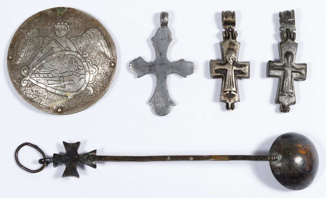 Byzantine Silver and Bronze Cross Assortment - 2