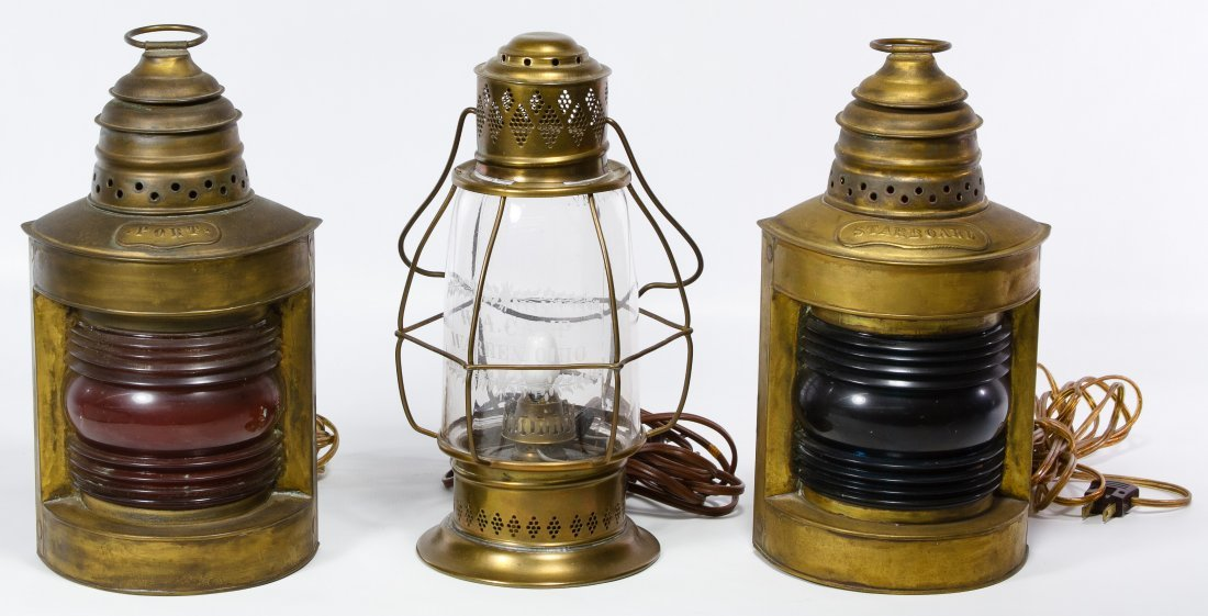 Electrified Brass Ship Lanterns