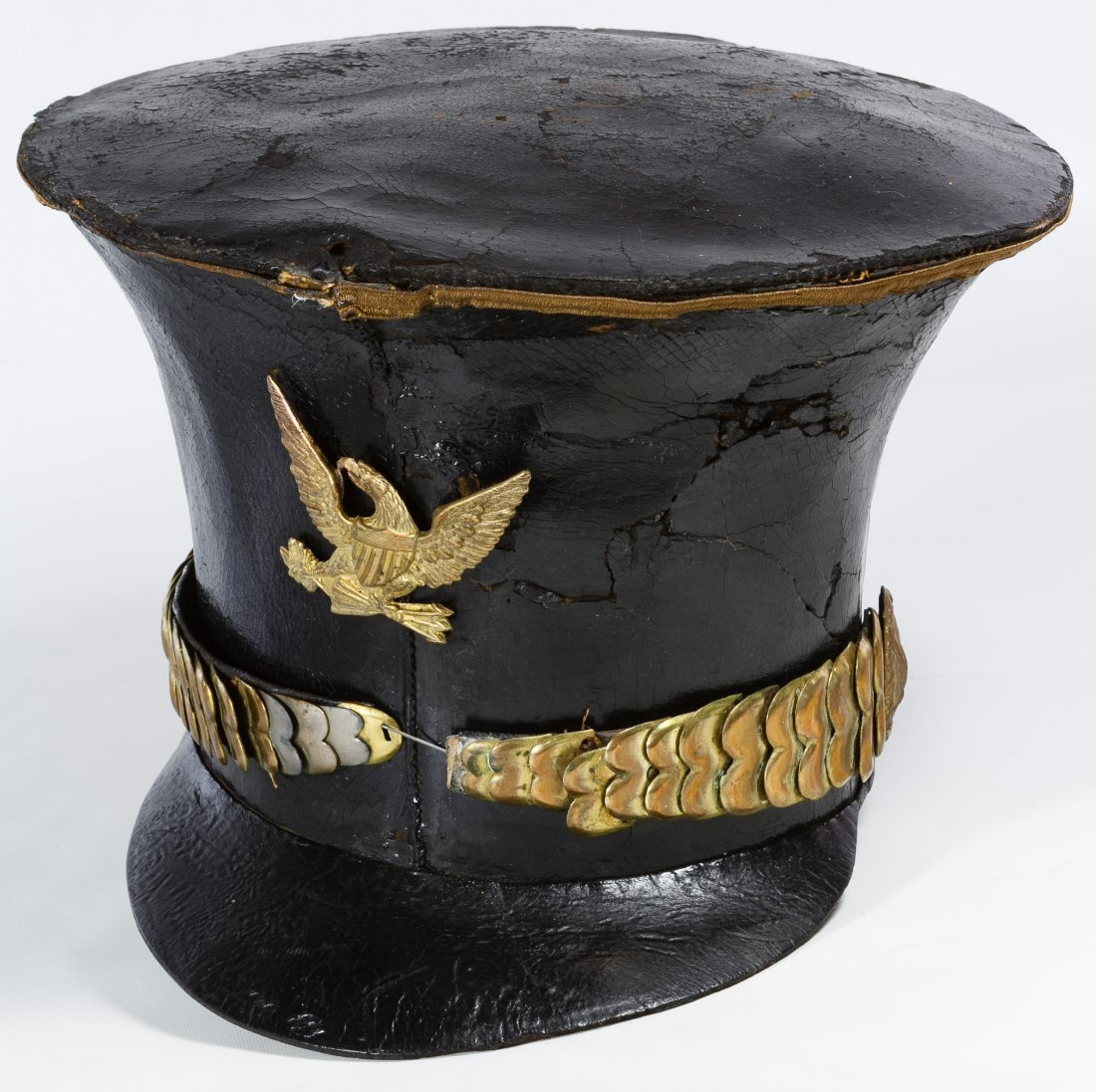 Pre-Civil War US Officer's Bell Crown Shako Hat