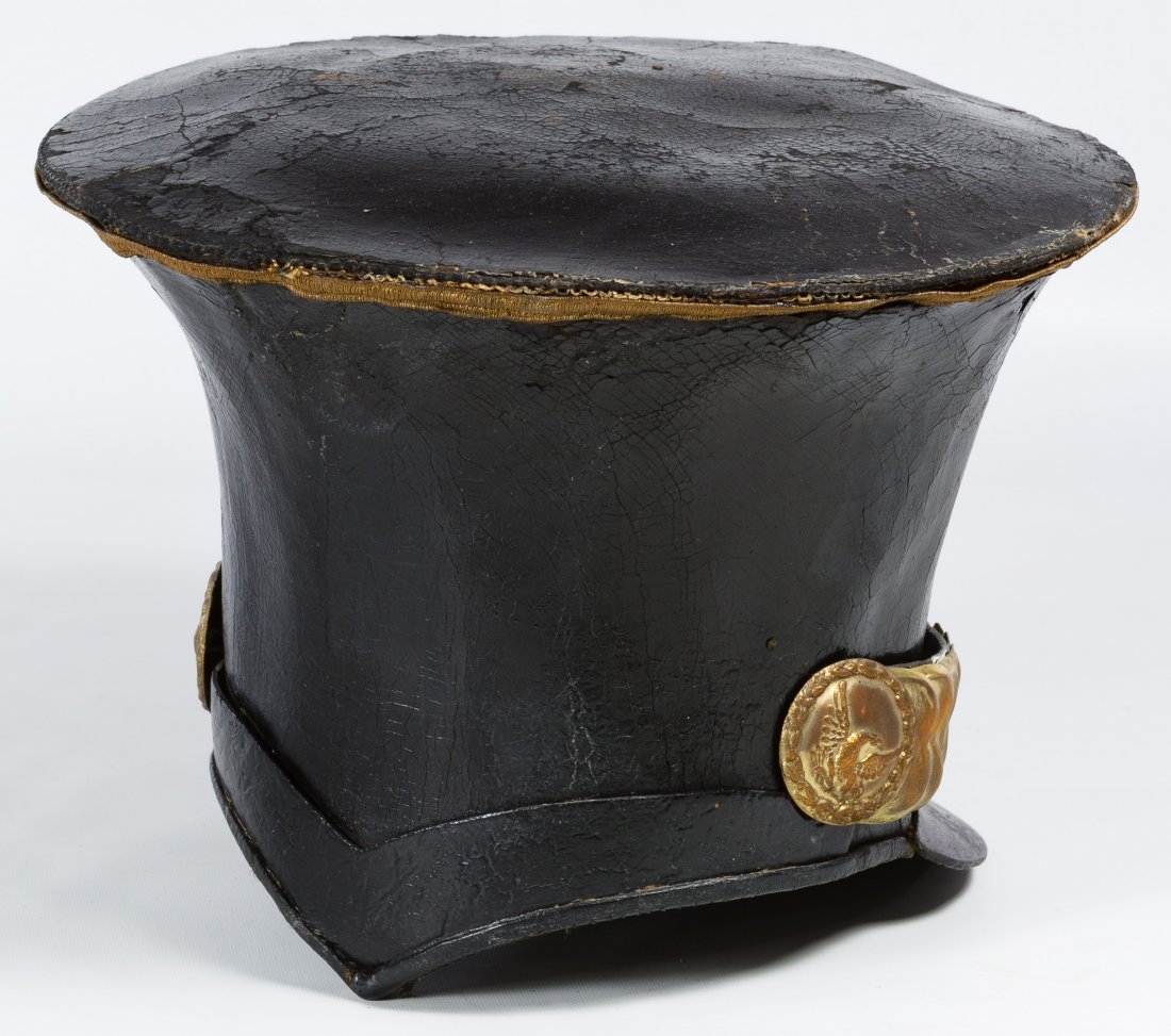 Pre-Civil War US Officer's Bell Crown Shako Hat - 2