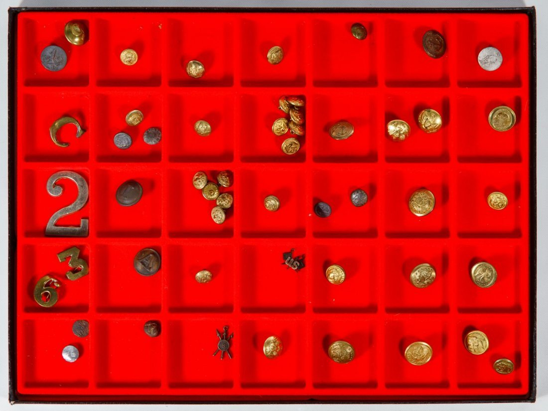 19th Century Military Button and Pin Assortment