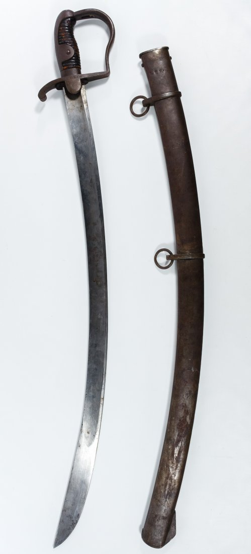 Curved Cutlass and Scabbard