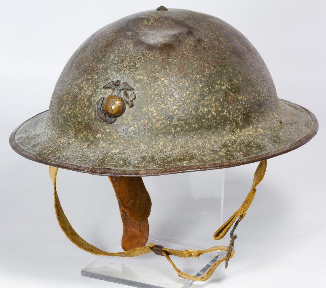 World War II USMC M1917A Helmet