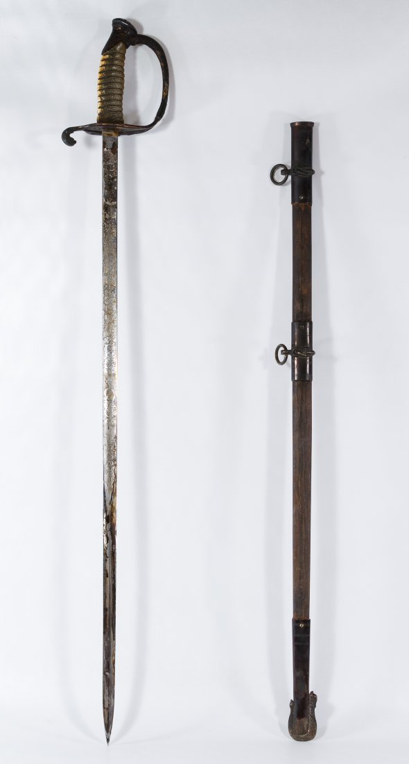 Korean War Era US Naval Dress Sword and Scabbard - 2