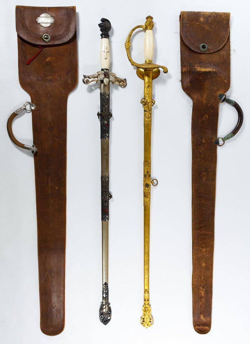Knights of Pythias Fraternal Presentation Swords