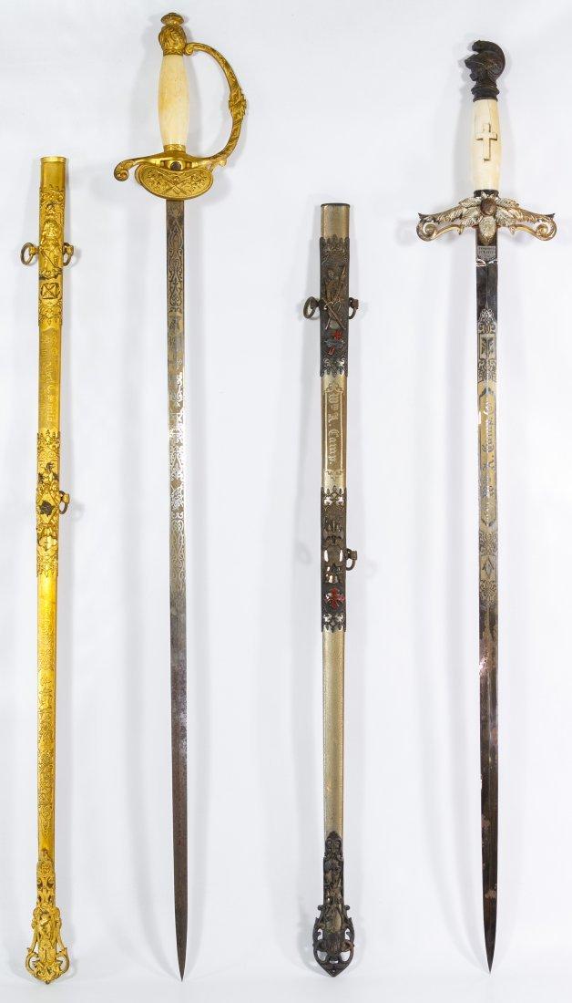 Knights of Pythias Fraternal Presentation Swords - 2