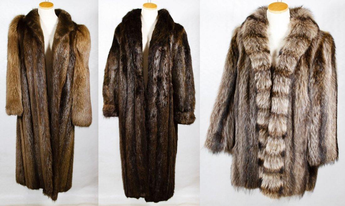 Beaver Fur Full Length Coat