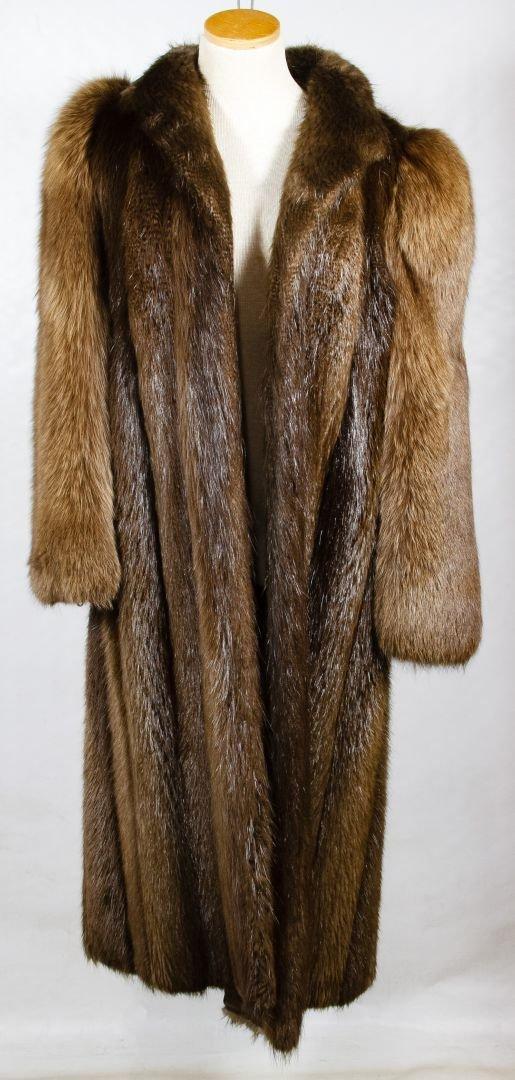 Beaver Fur Full Length Coat - 2