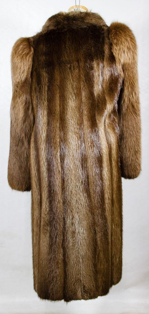 Beaver Fur Full Length Coat - 3