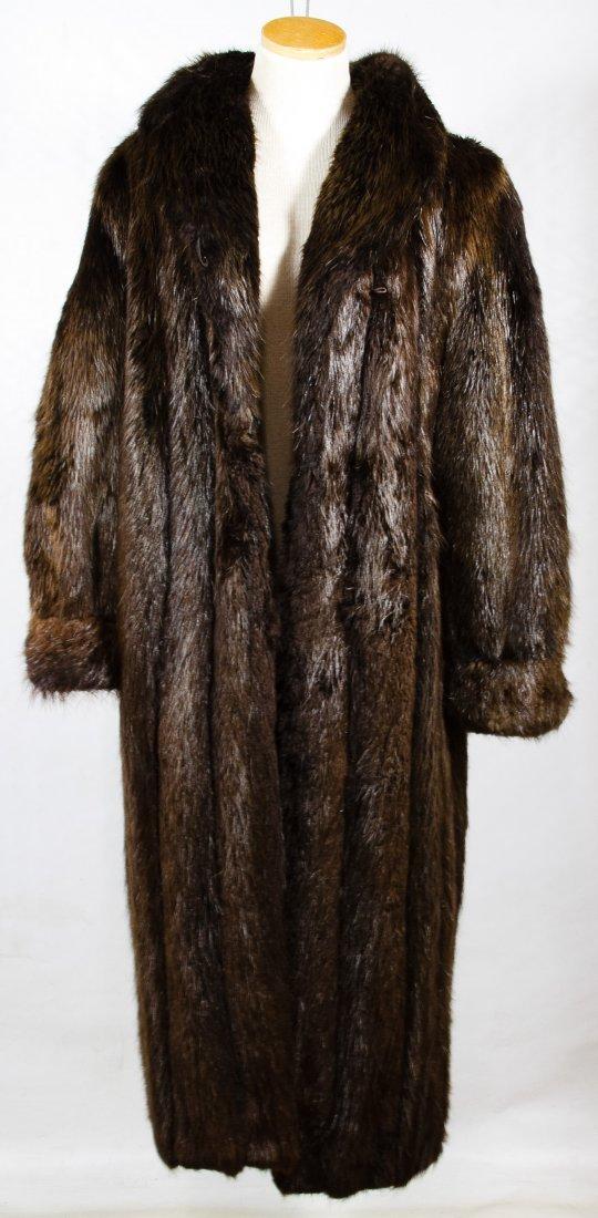 Beaver Fur Full Length Coat - 4