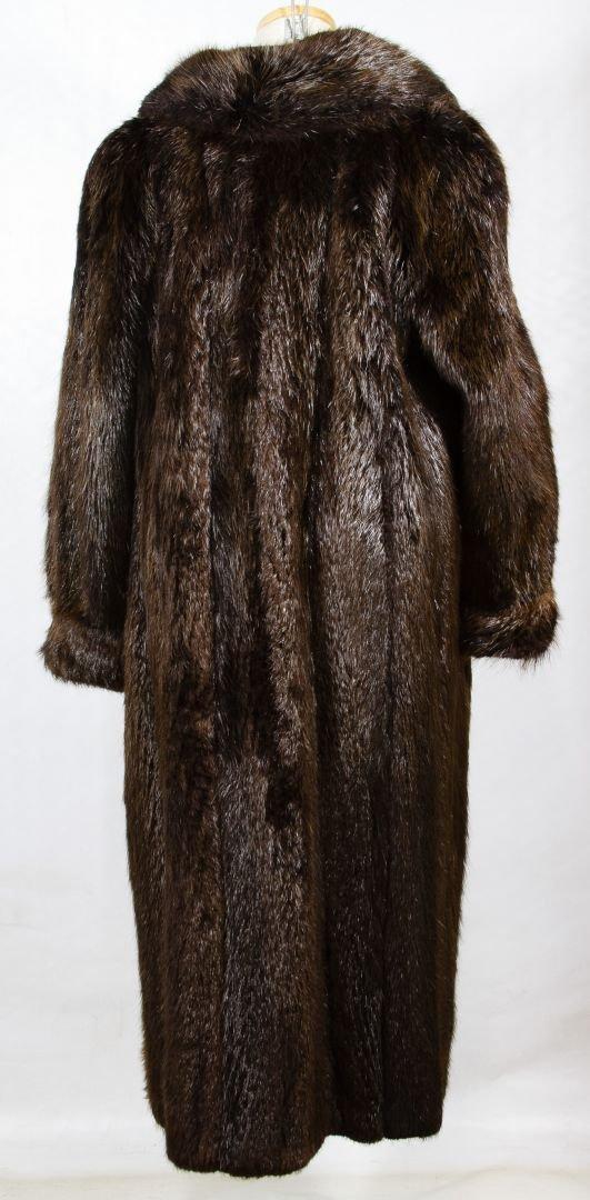 Beaver Fur Full Length Coat - 5