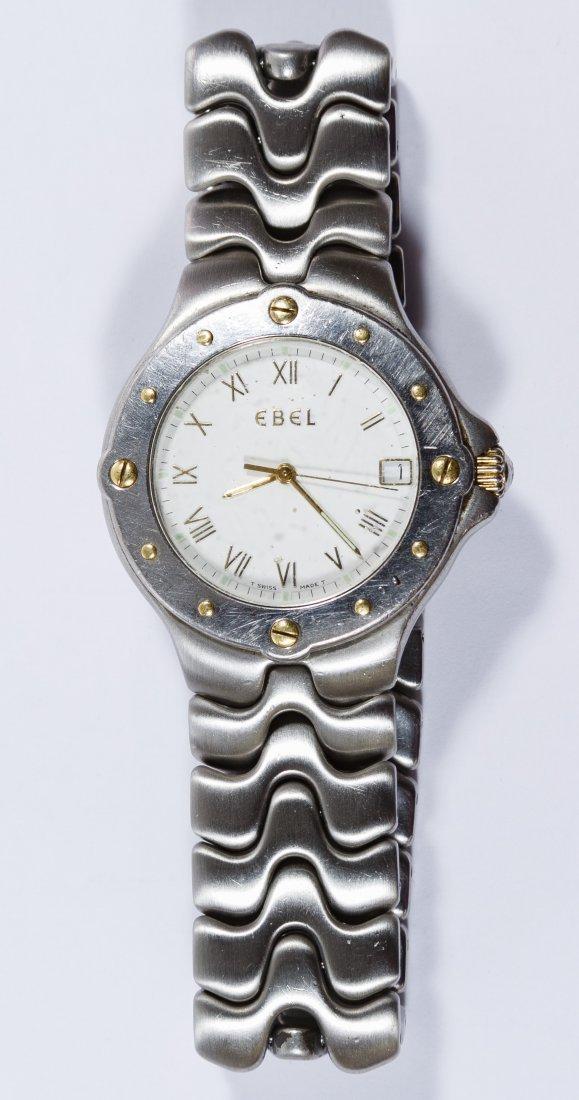 Ebel 'Sportwave' Stainless Steel Wrist Watch