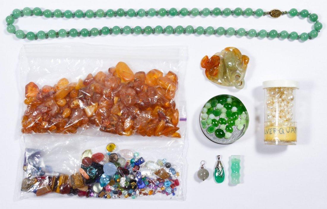 Gemstone, Pearl, Amber and Jadeite Jade Assortment