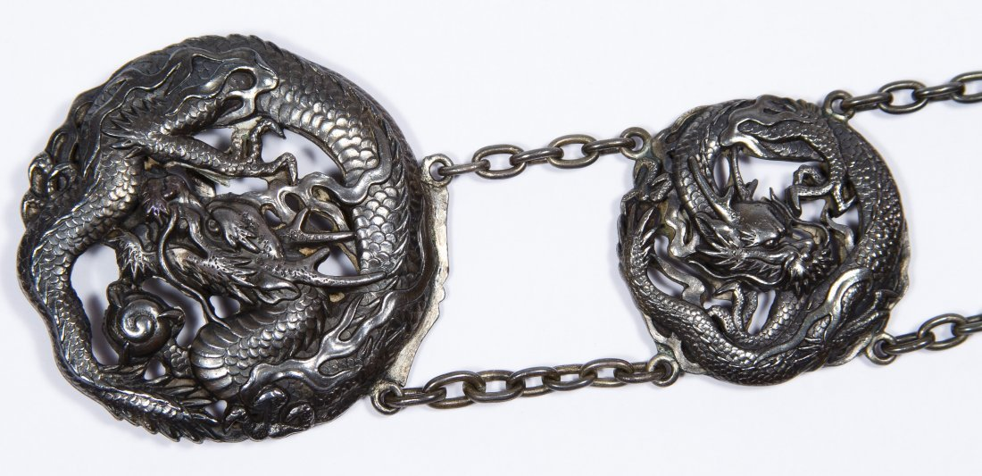 Asian Silver Dragon Belt - 2