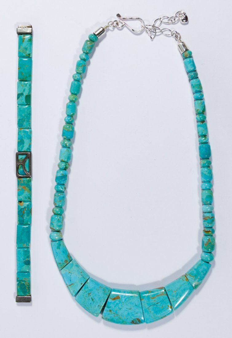 Native American Turquoise Necklace and Bracelet