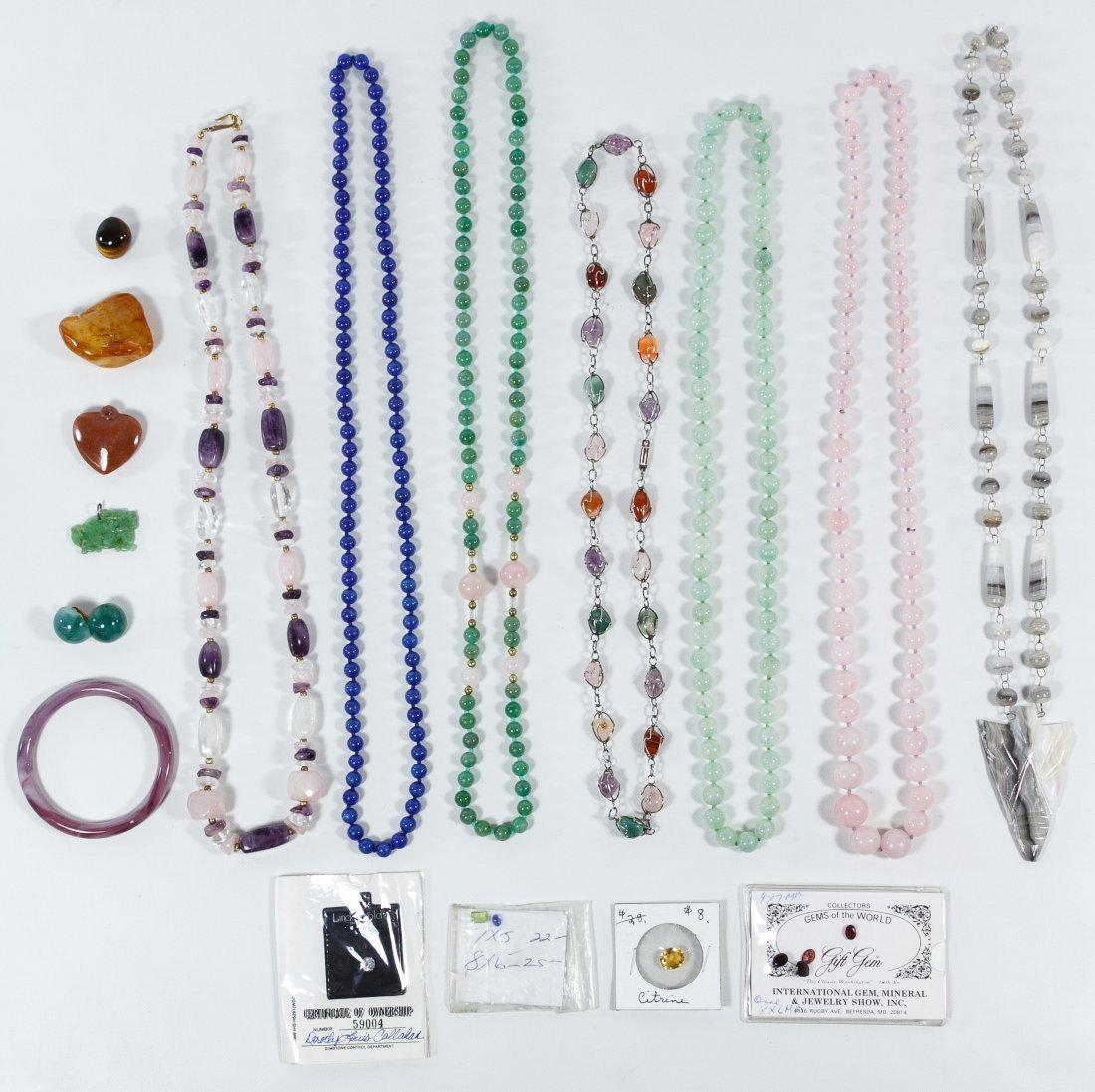 Gemstone and Stone Jewelry Assortment