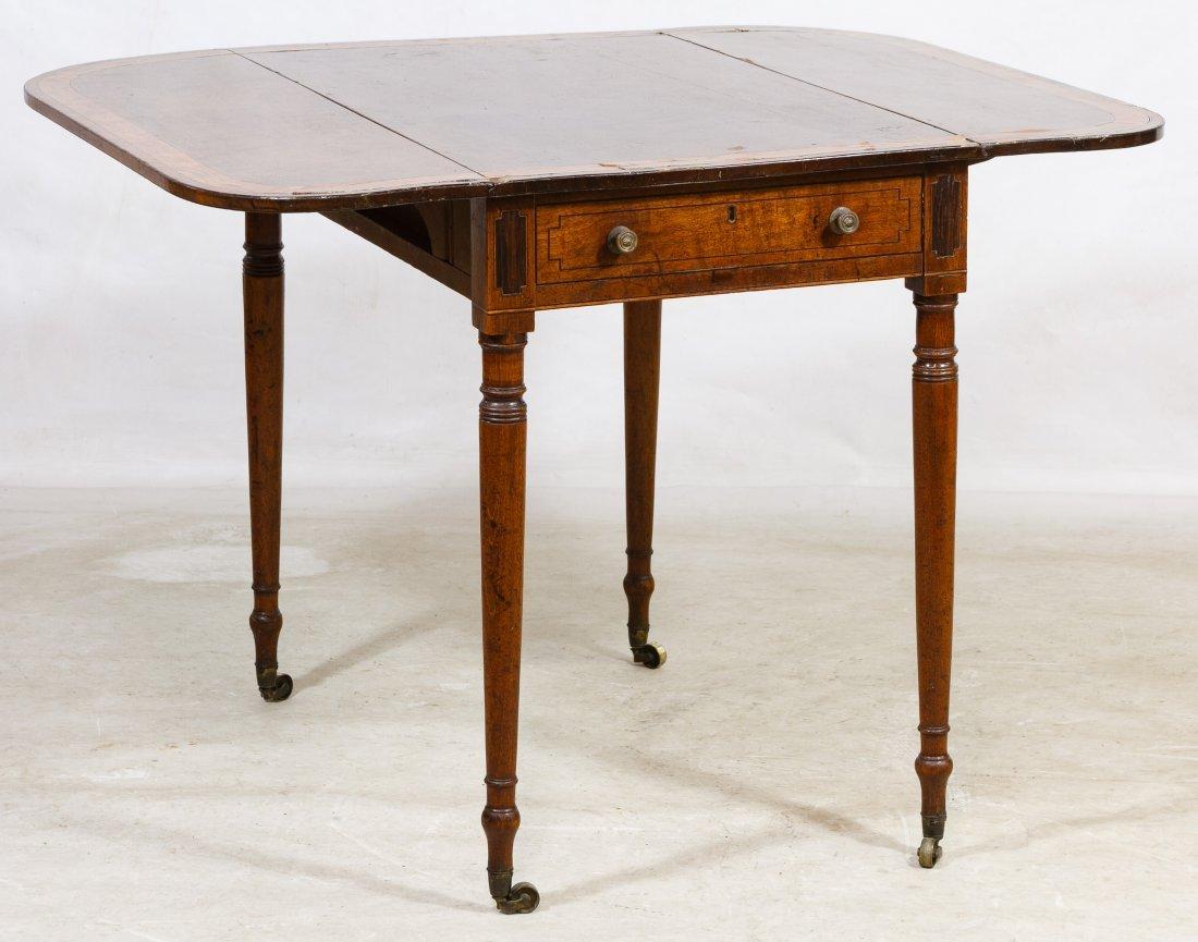 Mahogany Drop Leaf Table - 2