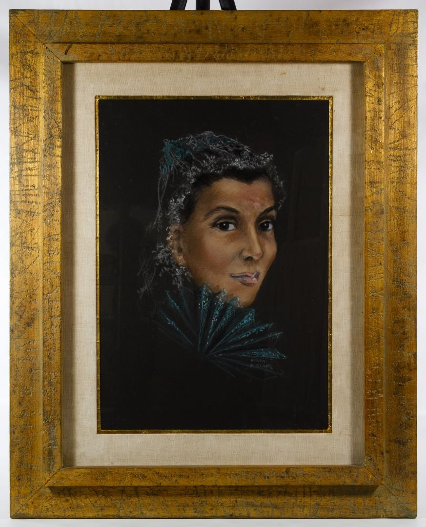Mary Archer (American, 20th Century) Pastel Portrait