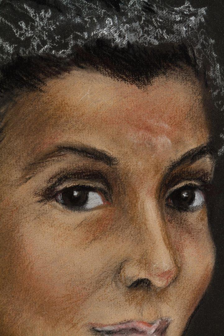 Mary Archer (American, 20th Century) Pastel Portrait - 2
