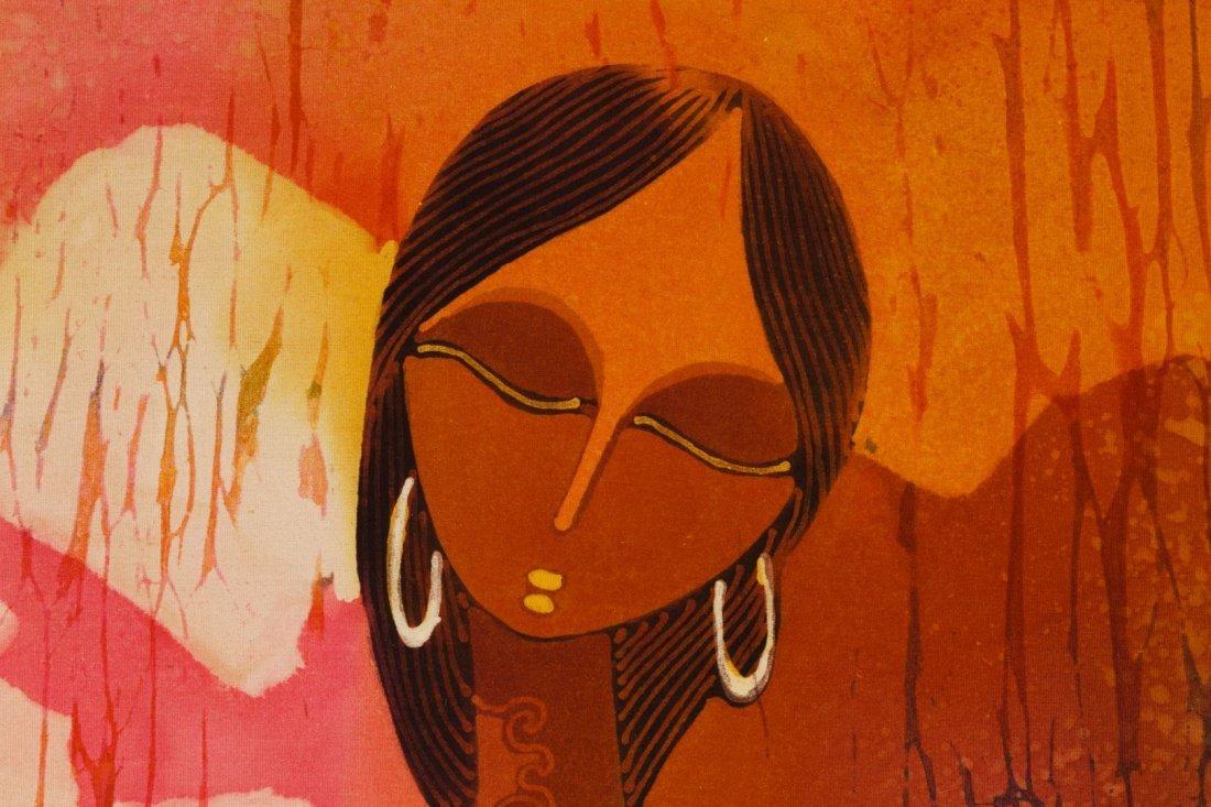 African School (20th Century) Batik Painting on Silk - 2