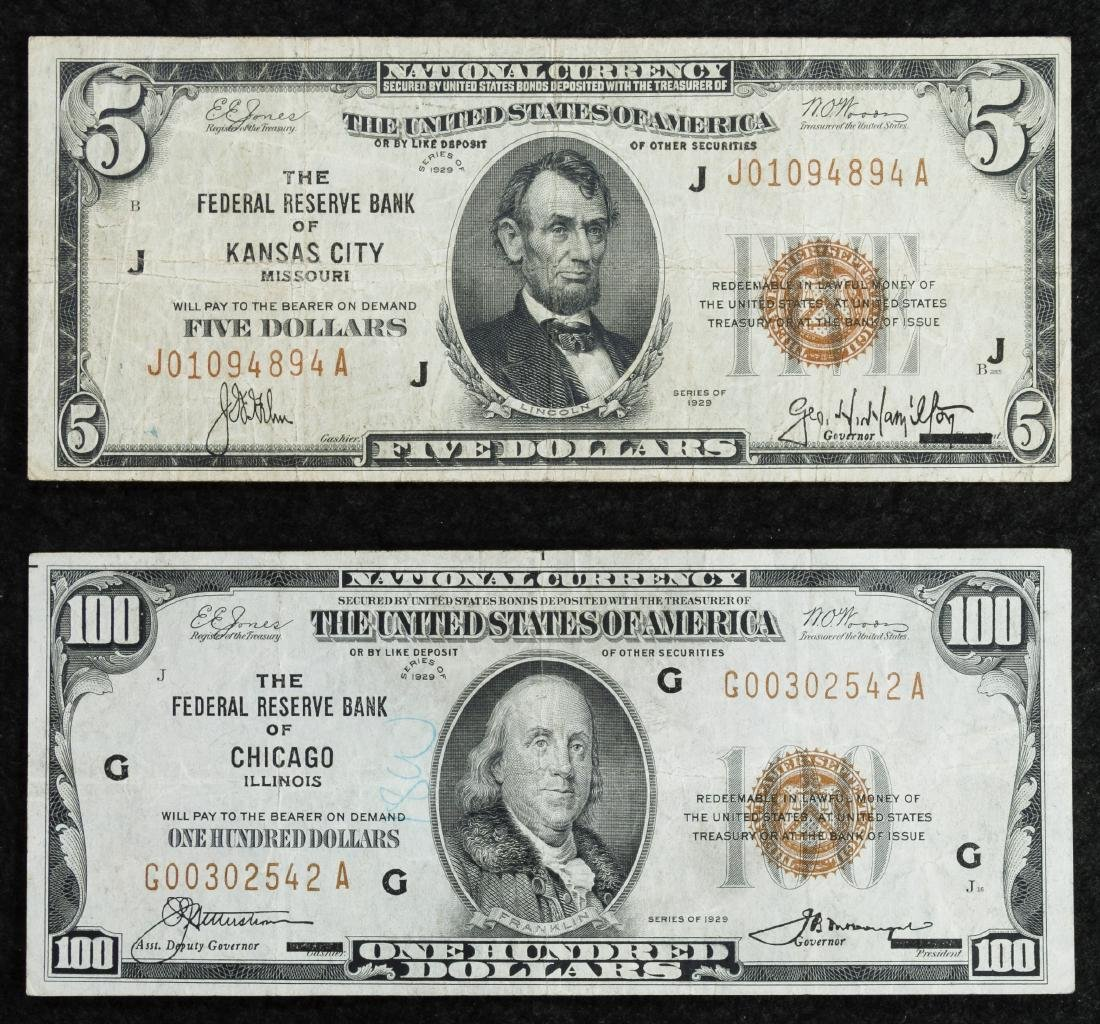 1929 National Currency Assortment F/VF