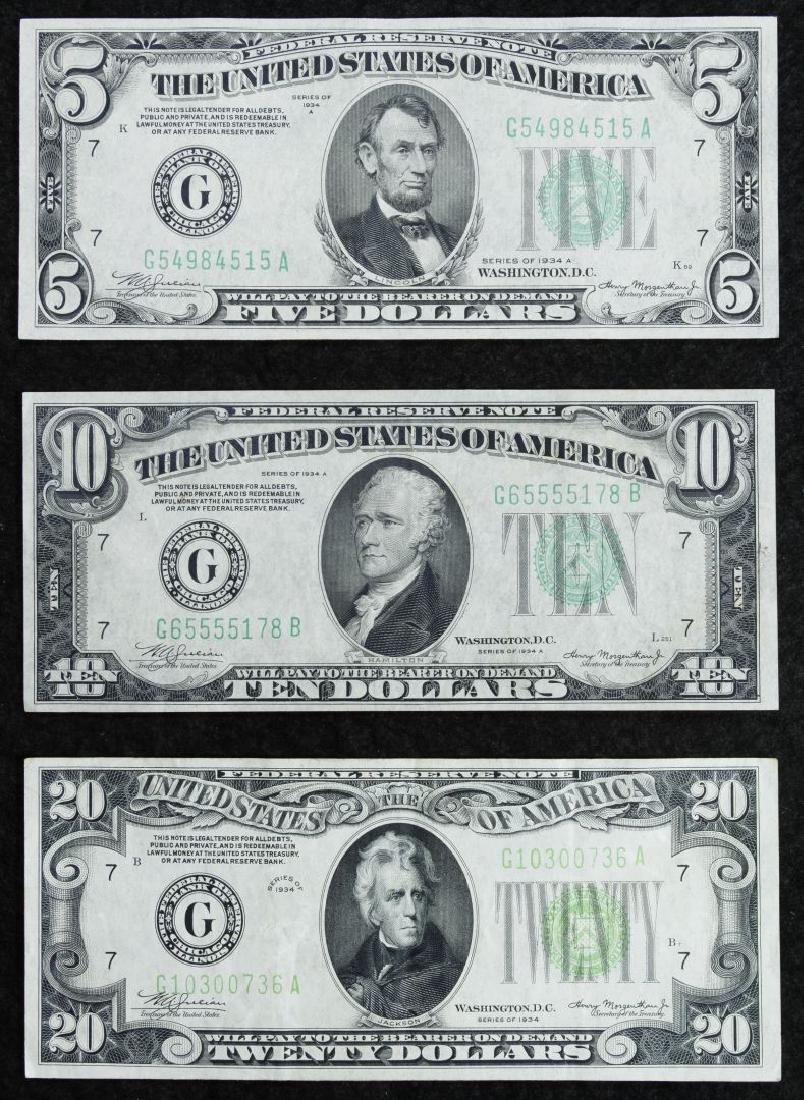 1934 Federal Reserve Note Assortment