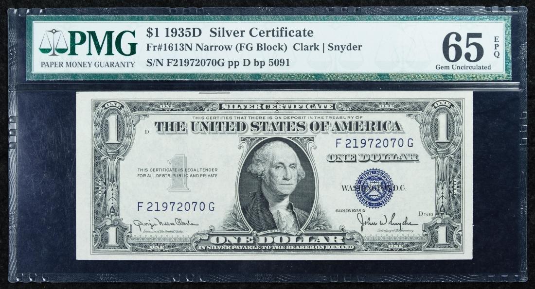 1935-D $1 Silver Certificate GU 65 EPQ