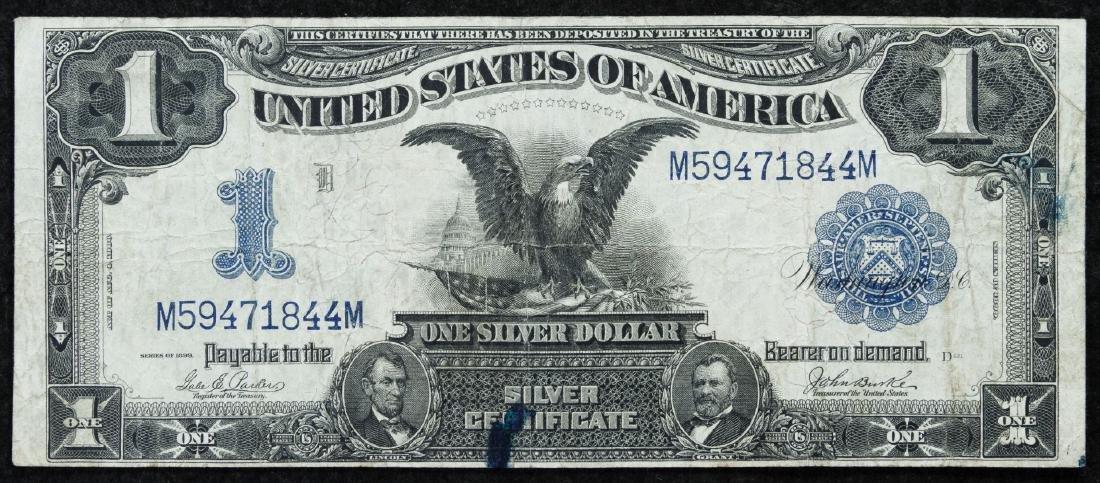1899 $1 'Black Eagle' Silver Certificate VF Details