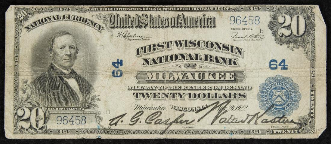 1902 $20 National Bank Note VG