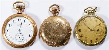 Elgin Gold Filled Open Face and Hunter Case Pocket