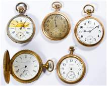 Gold Filled Open Face and Hunter Case Pocket Watch