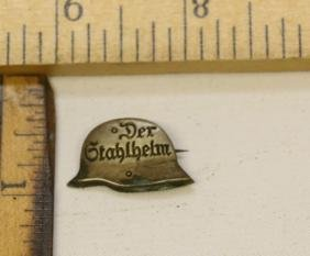 WWII NAZI GERMANY DER STALHELM PIN
